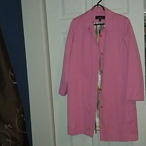 Jones New York pink raincoat